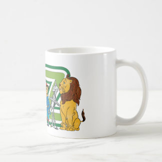 Vintage Wizard of Oz Characters and Letters Coffee Mug