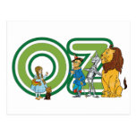 Vintage Wizard of Oz Characters and Letters Postcard