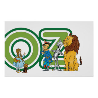 Vintage Wizard of Oz Characters and Letters Posters