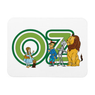 Vintage Wizard of Oz Characters and Letters Flexible Magnet
