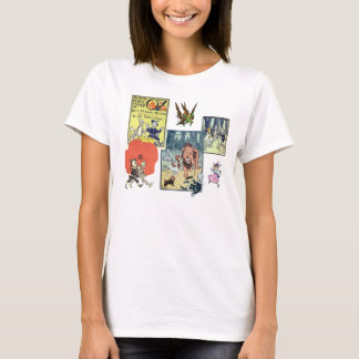 Vintage Wizard of Oz, Characters and Scenes T-Shirt