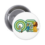 Vintage Wizard of Oz Characters and Text Letters 2 Inch Round Button