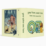 Vintage Wizard of Oz Characters and Text Letters Binder