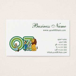 Vintage Wizard of Oz Characters and Text Letters Business Card