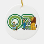 Vintage Wizard of Oz Characters and Text Letters Ceramic Ornament