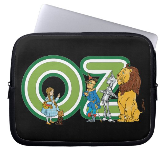 Vintage Wizard of Oz Characters and Text Letters Computer Sleeve