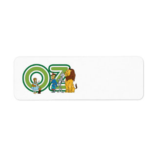 Vintage Wizard of Oz Characters and Text Letters Label