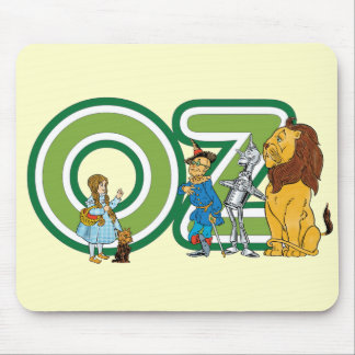 Vintage Wizard of Oz Characters and Text Letters Mouse Pad