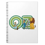 Vintage Wizard of Oz Characters and Text Letters Notebook