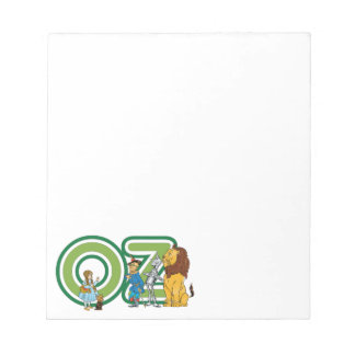 Vintage Wizard of Oz Characters and Text Letters Notepad