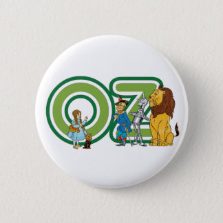 Vintage Wizard of Oz Characters and Text Letters Pinback Button
