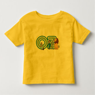 Vintage Wizard of Oz Characters and Text Letters T Shirt