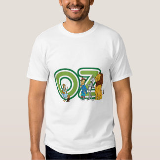 Vintage Wizard of Oz Characters and Text Letters T Shirts