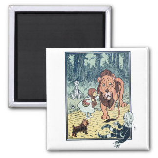 Vintage Wizard of Oz Characters, Yellow Brick Road 2 Inch Square Magnet