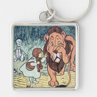 Vintage Wizard of Oz Characters, Yellow Brick Road Keychain