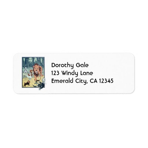 Vintage Wizard of Oz Characters, Yellow Brick Road Label