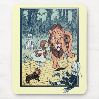 Vintage Wizard of Oz Characters, Yellow Brick Road Mouse Pad