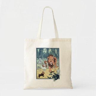 Vintage Wizard of Oz Characters, Yellow Brick Road Tote Bag