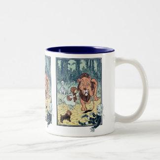 Vintage Wizard of Oz Characters, Yellow Brick Road Two-Tone Coffee Mug