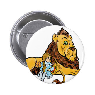 Vintage Wizard of Oz, Cowardly Lion, Dorothy, Toto 2 Inch Round Button