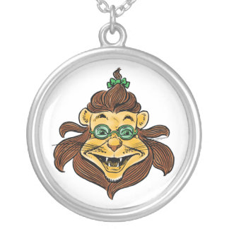 Vintage Wizard of Oz, Cowardly Lion Laughing Smile Personalized Necklace