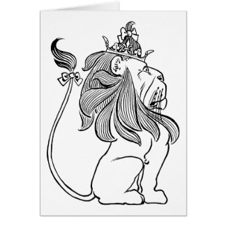 Vintage Wizard of Oz, Cowardly Lion with Crown Card