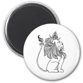 Vintage Wizard of Oz, Cowardly Lion with Crown Magnet