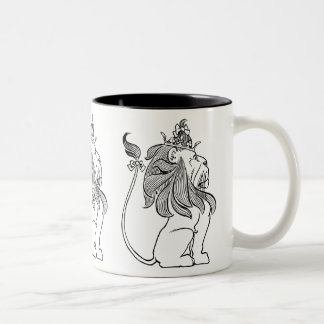 Vintage Wizard of Oz, Cowardly Lion with Crown Two-Tone Coffee Mug