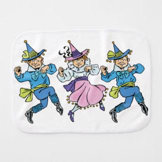 Vintage Wizard of Oz, Cute Dancing Munchkins! Baby Burp Cloths