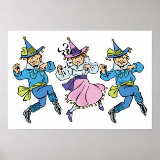 Vintage Wizard of Oz, Cute Dancing Munchkins! Poster