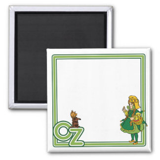 Vintage Wizard of Oz; Dorothy and Toto 2 Inch Square Magnet