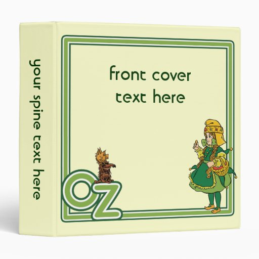 Vintage Wizard of Oz; Dorothy and Toto 3 Ring Binder