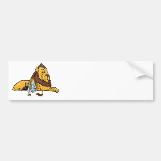 Vintage Wizard of Oz, Dorothy and Toto with Lion Bumper Sticker