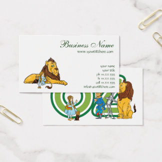 Vintage Wizard of Oz, Dorothy and Toto with Lion Business Card