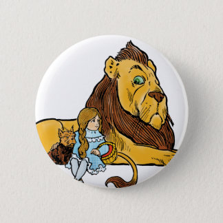 Vintage Wizard of Oz, Dorothy and Toto with Lion Button