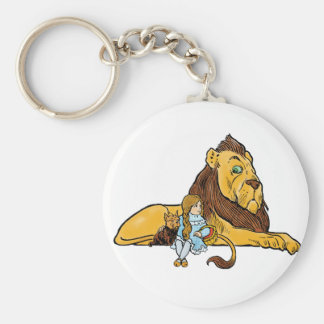 Vintage Wizard of Oz, Dorothy and Toto with Lion Keychain
