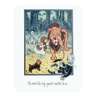 Vintage Wizard of Oz, Dorothy, Boy Birthday Party Card