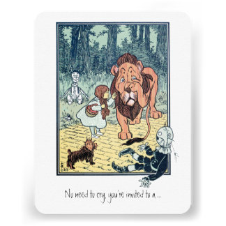 Vintage Wizard of Oz. Dorothy, Boy Birthday Party Personalized Announcements