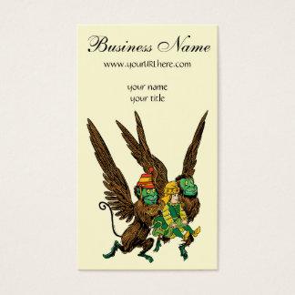Vintage Wizard of Oz, Dorothy, Evil Flying Monkeys Business Card