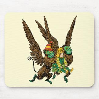Vintage Wizard of Oz, Dorothy, Evil Flying Monkeys Mouse Pad