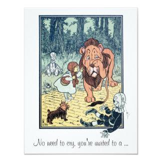 Vintage Wizard of Oz, Dorothy, Girl Baby Shower Invitations