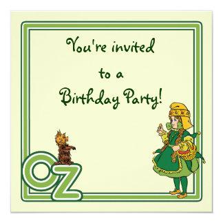 "Vintage Wizard of Oz Dorothy Girl Birthday Party 5.25"" Square Invitation Card"
