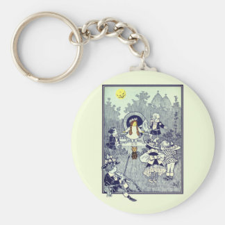 Vintage Wizard of Oz, Dorothy Meets the Munchkins Keychain