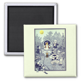 Vintage Wizard of Oz, Dorothy Meets the Munchkins Magnet