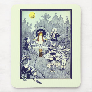 Vintage Wizard of Oz, Dorothy Meets the Munchkins Mouse Pad
