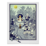 Vintage Wizard of Oz, Dorothy Meets the Munchkins Poster