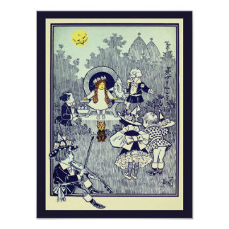 Vintage Wizard of Oz, Dorothy Meets the Munchkins Posters
