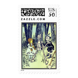 Vintage Wizard of Oz, Dorothy Meets the Tinman Postage