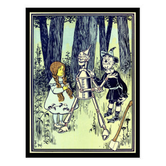 Vintage Wizard of Oz, Dorothy Meets the Tinman Postcard
