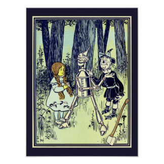 Vintage Wizard of Oz, Dorothy Meets the Tinman Poster